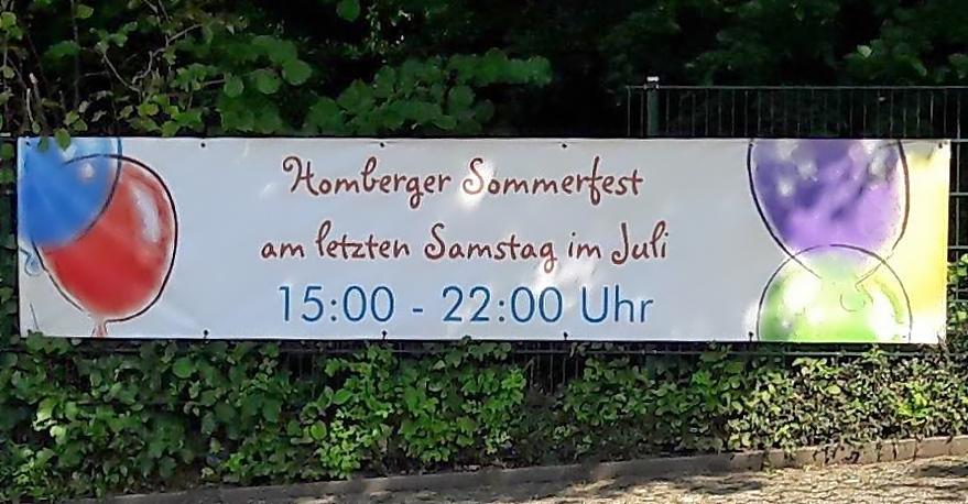 Sommerfest des Bürgervereins Ratingen-Homberg / Abgesagt