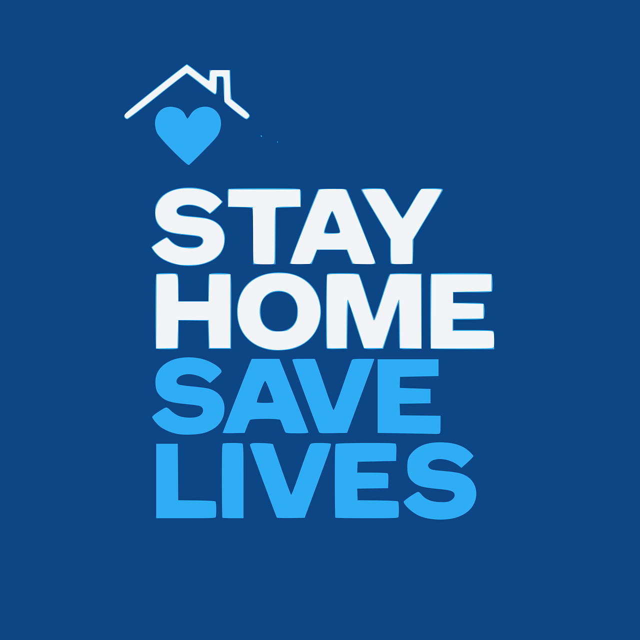 Zu Hause bleiben - Leben retten