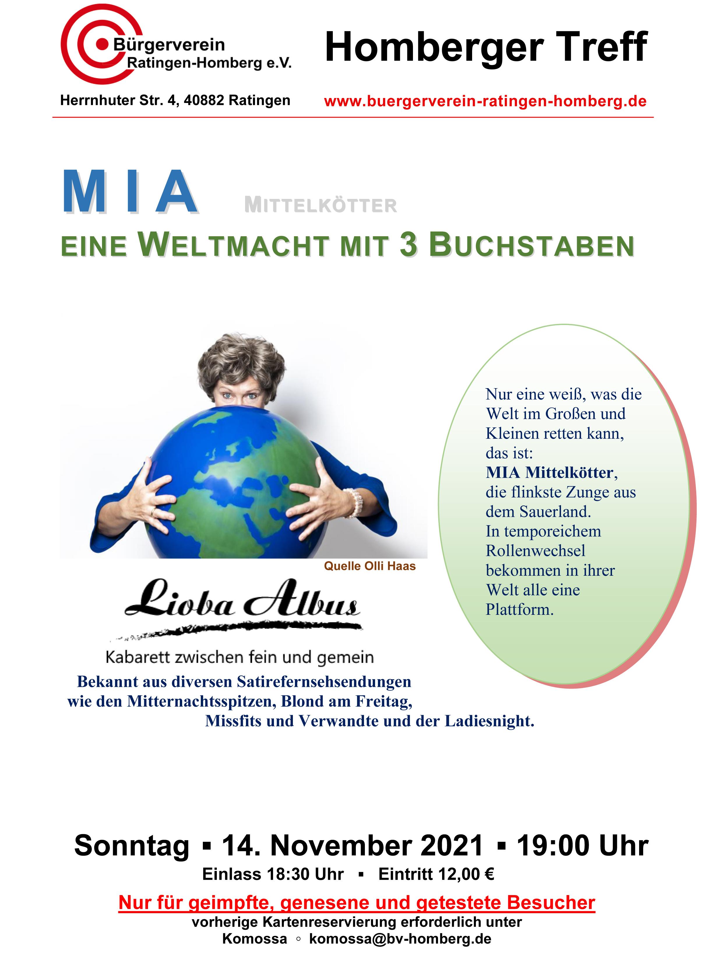 MIA - EINE WELTMACHT MIT 3 BUCHSTABEN mit Lioba Albus